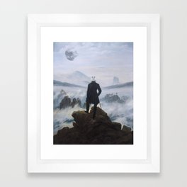 "Homage to Caspar David Freidrich, ""Trooping above the Sea of Fog"" Framed Art Print"
