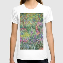 The Iris Garden at Giverny by Claude Monet T-shirt