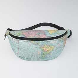 Vintage Map of The World (1901) Fanny Pack
