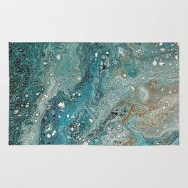 Turquoise, Acrylic on canvas Rug