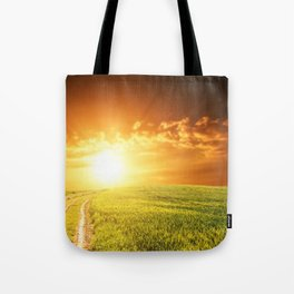 val d'orcia tuscany landscape - italy Tote Bag