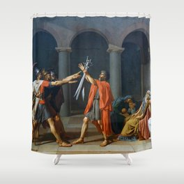 Oath of the Horatii by Jacques-Louis David Shower Curtain
