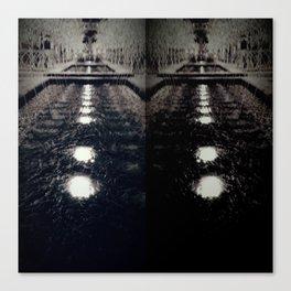 Darker Still - Fountain in Midnight and Black Canvas Print