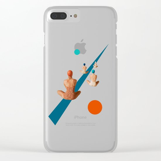 summer is ending Clear iPhone Case