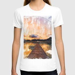 Stunning Jetty Sunset - Jetties Around The World T-shirt