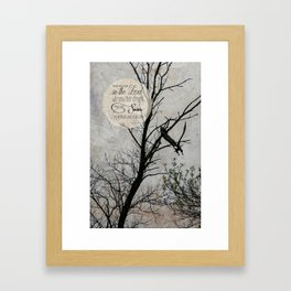 Like Eagles Framed Art Print