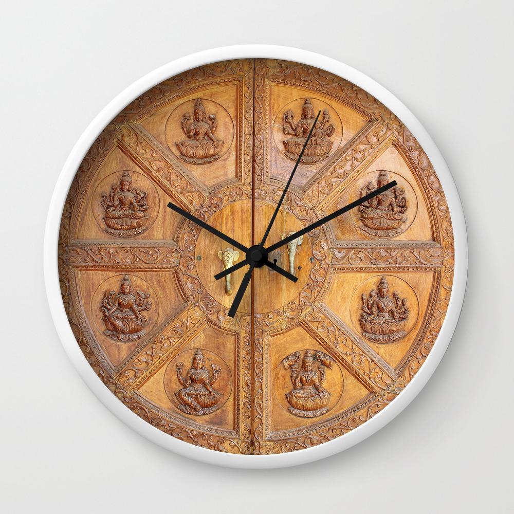 Indian Shiva Temple Doors Wall Clock