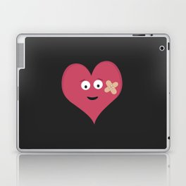 Heart face with patch Laptop & iPad Skin