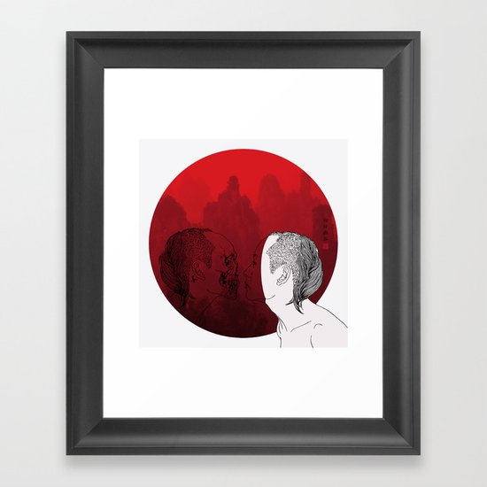 Self portrait-Another View Framed Art Print