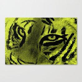 Tiger Eyes - Lime Canvas Print