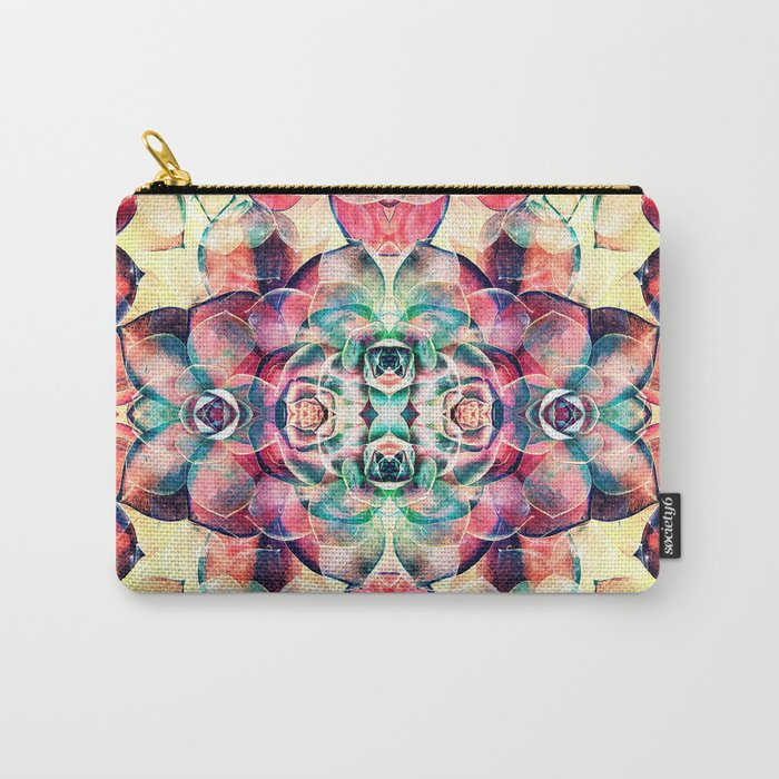 Succulents Abstract Carry-All Pouch