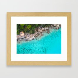 Tropical Area to sit Framed Art Print