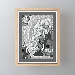 The Lamb and the Wolf Seamless Surface Pattern Framed Mini Art Print