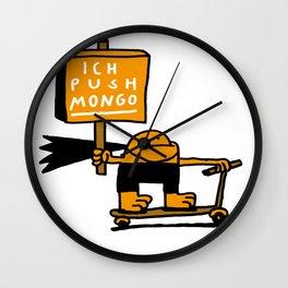 Mongo Pusher Wall Clock