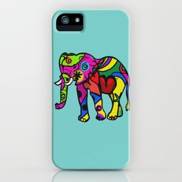 psychedelephant iPhone Case
