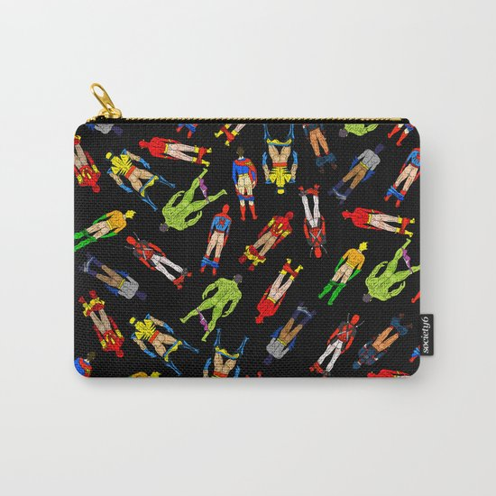 Superhero Butts Pattern (Dark) Carry-All Pouch