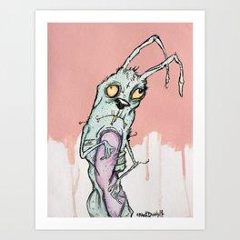 Zombie Bunny Art Print