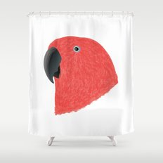 Eclectus [Female] Parrot Shower Curtain