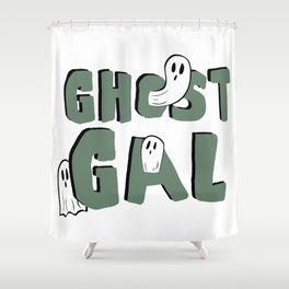 Ghost Gal Shower Curtain