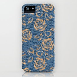 Blue Luce Jute iPhone Case