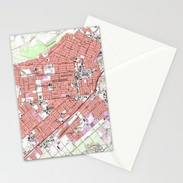 Vintage Map of Riverside California (1967) Stationery Cards