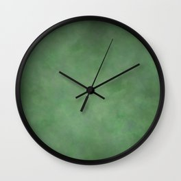 Abstract Soft Watercolor Gradient Ombre Blend 1 Deep Dark Green and Light Green Wall Clock