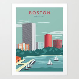 Boston Print Art Print