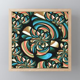 Almost floral abstract Framed Mini Art Print