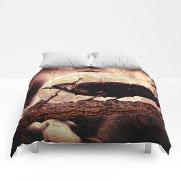 Crow Black Bird Full Moon Surreal Gothic Home Decor Art A143 Comforters