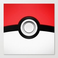 pokeball Canvas Prints featuring POKEBALL by Smart Friend