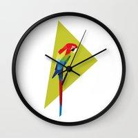 parrot Wall Clocks featuring parrot by William