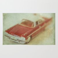 honda Area & Throw Rugs featuring Vintage Red De Soto  by Honey Malek