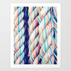Rainbow Rope Art Print