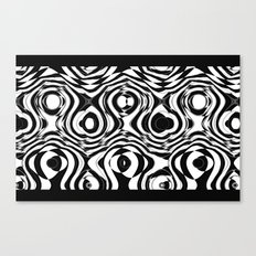 Black and White holes Canvas Print