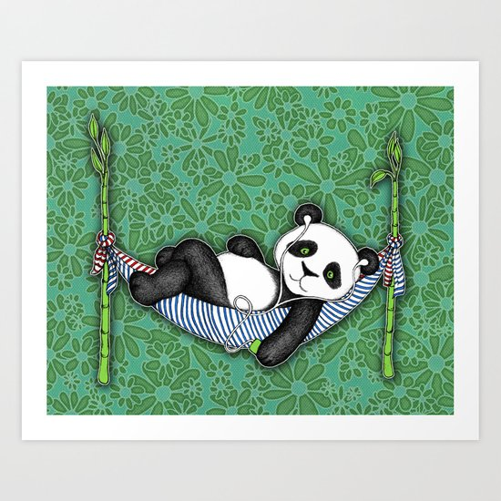 iPod Panda - The Lazy Days Art Print