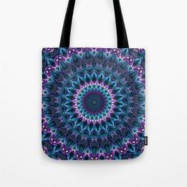 Luscious Purple and Blue Kaleidoscope Tote Bag