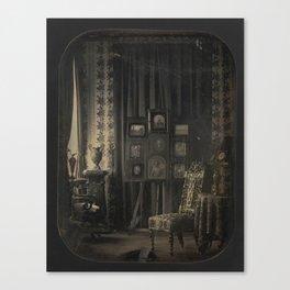 Old Photo Seamless Pattern Canvas Print