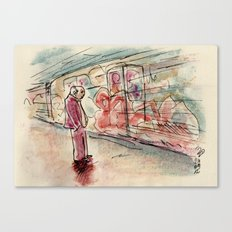 Rome: the subway is a rolling museum Canvas Print