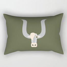 Letter Y // Animal Alphabet // Yak Monogram Rectangular Pillow