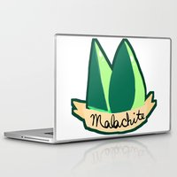 malachite Laptop & iPad Skins featuring Malachite by El Jones