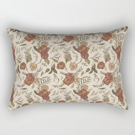 Antique Floral Pattern Rectangular Pillow