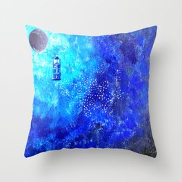 Tardis Trail Throw Pillow