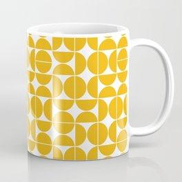 Mid Century Modern Geo 04B Yellow Coffee Mug