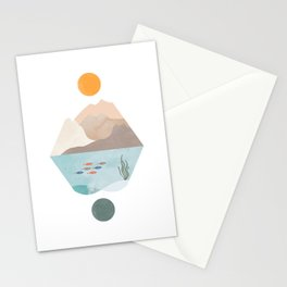 Mountains and Oceans Stationery Cards