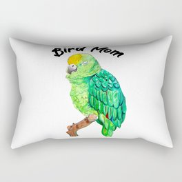 Parrot Bird Mom Rectangular Pillow