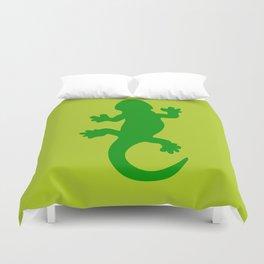 Green Lizard Duvet Cover