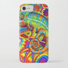 Psychedelizard Psychedelic Chameleon iPhone 7 Slim Case