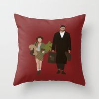leon Throw Pillows featuring leon by Live It Up