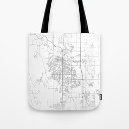Minimal City Maps - Map Of Fort Collins, Colorado, United States Tote Bag