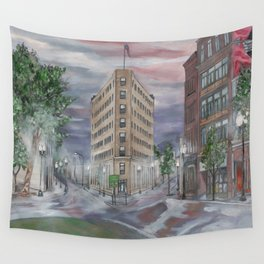 Lynn at First Light Cityscape Wall Tapestry